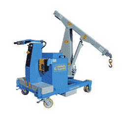 Cranes for mold loading into plastic injection molding machines