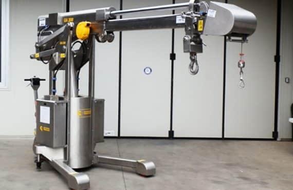 Prouds of new stainless steel crane MINIDREL 30B for Novartis(Singapore)