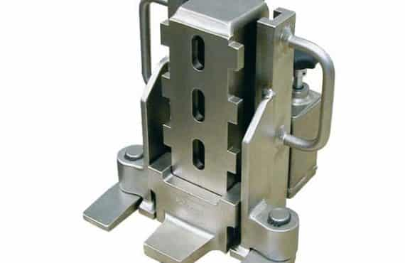 Hydraulic toe jacks nickle plated with integrated hydraulic pump