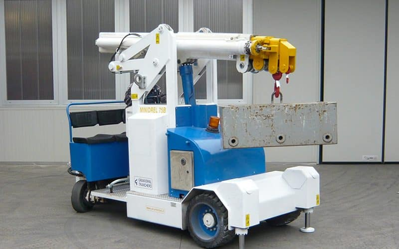 Sale or rental of cranes for lifting loads