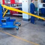 Electric crane for handling molds in the tire production sector GB150