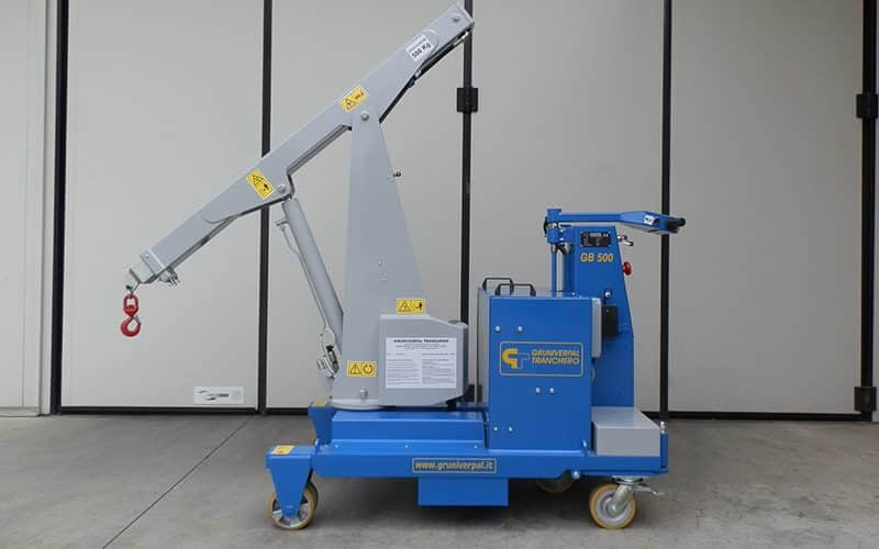 Sale or rental of used cranes for lifting loads up to 500 kg