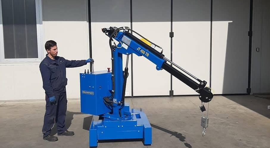 Elektrische of semi-automatische mini kranen met een hefvermogen tot 450 kg.