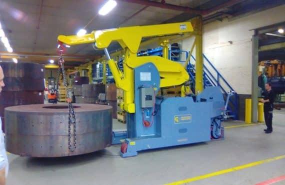 Grúa para producción neumáticos Minidrel 100S_ARR
