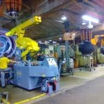 Electric crane for handling molds in the tire production sector Minidrel 100S_ARR