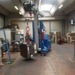 Elektrische hijskranen voor het heffen van ladingen tot 12.000 kg.