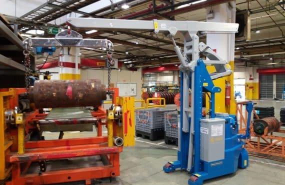 Gru elettrica stampi pneumatici Minidrel 20S_HG