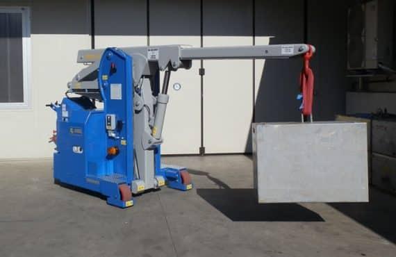 Mini grue électrique pour la production de pneumatiques Minidrel 40S_ARR