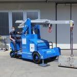 Zelfrijdende kraan met een capaciteit tot 5.000 kg.