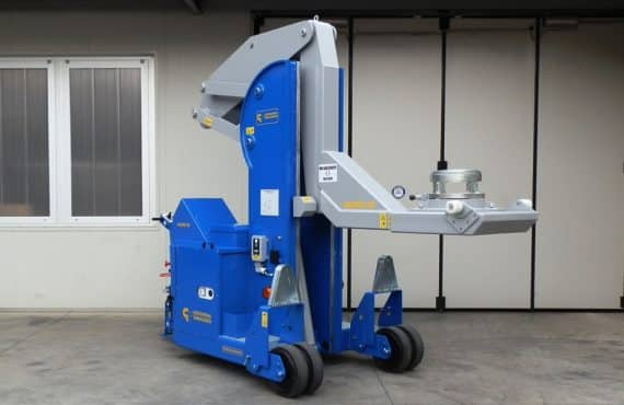 Electric crane for handling molds in the tire production sector Minidrel 50S_HG