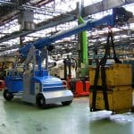 Mobile cranes for lifting loads up to 7.500 kg.